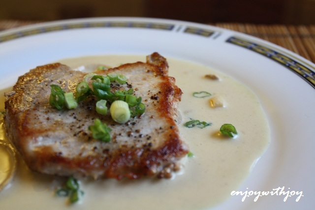 Pork Chops with Dijon Sauce | enJOY with JOY