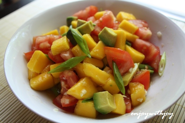 Tomato Mango And Avocado Salad Enjoy With Joy