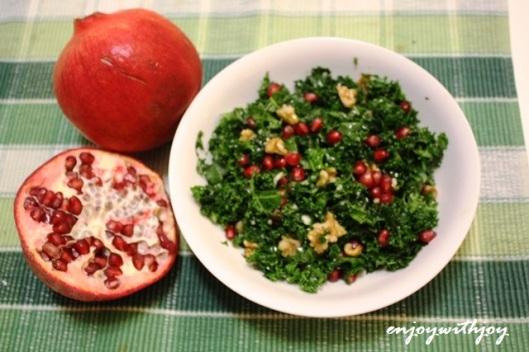 Kale and Pomegranate Salad