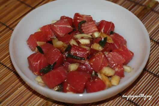 Roasted Garlic Ahi Poke