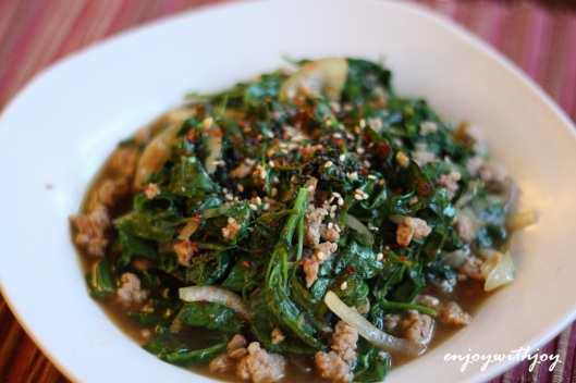 Mixed Greens with Oyster Sauce
