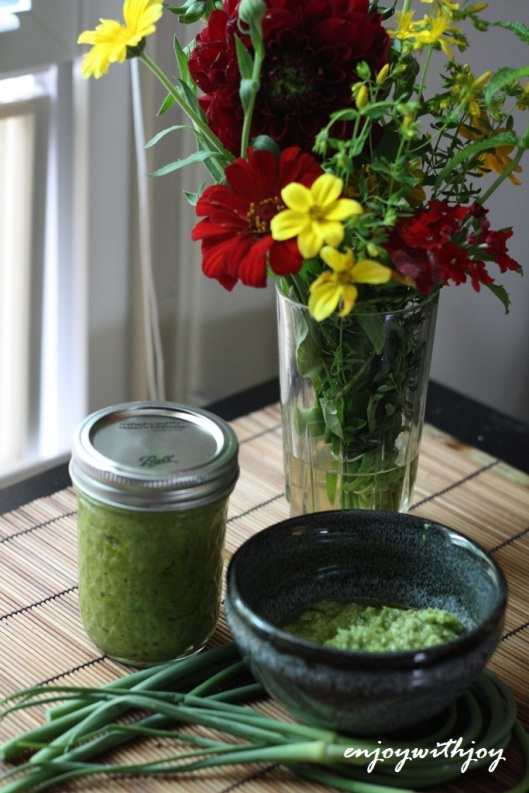 Garlic-Scape Pesto