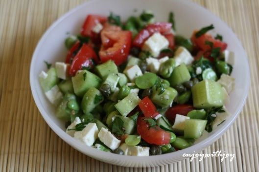 Middle Eastern Fresh Fava Bean Salad