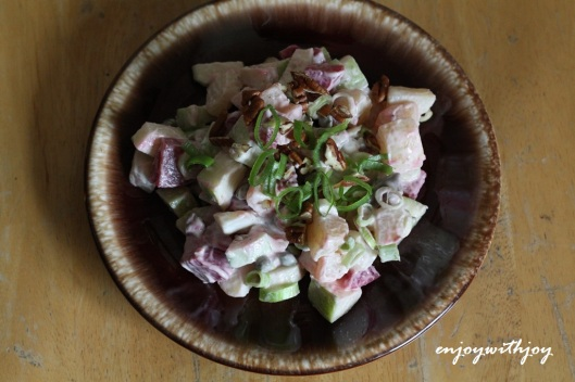 Potato Salad With Pickled Herring,  Beets, Apple and  Walnuts
